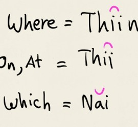 Where Question Word In Thai Language eThaier